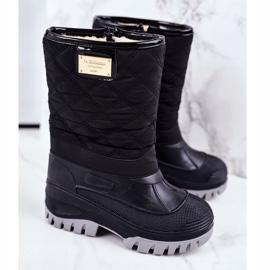 Apawwa Pelsisolerede sne støvler til børn, sort musi 1