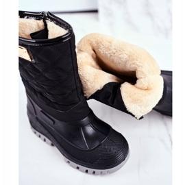 Apawwa Pelsisolerede sne støvler til børn, sort musi 4