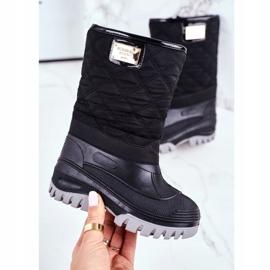 Apawwa Pelsisolerede sne støvler til børn, sort musi 2