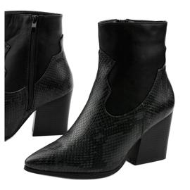 Sorte ankelstøvler med spids Chay 1