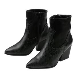 Sorte ankelstøvler med spids Chay 3