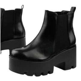 Sorte ankelstøvler med elastik fra Pardia 1