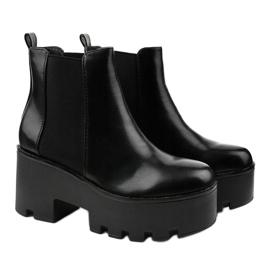 Sorte ankelstøvler med elastik fra Pardia 3