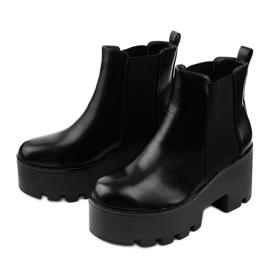 Sorte ankelstøvler med elastik fra Pardia 2