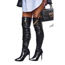 SEA Kvinders støvler med høj hæl Latex Black Bite Me! sort 1