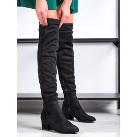 Fashion Sorte lårhøje støvler 2