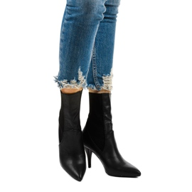 Sorte høje hæle med Daywillow-sok 1