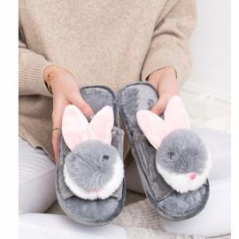 Bona Bunny hjemmesko grå 4