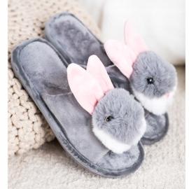 Bona Bunny hjemmesko grå 1