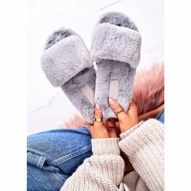 FRJ Kvinders pels tøfler grå kolde dage 3
