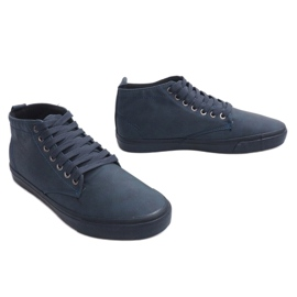 Stilfulde High-top Sneakers Y007 Navy Blue 3