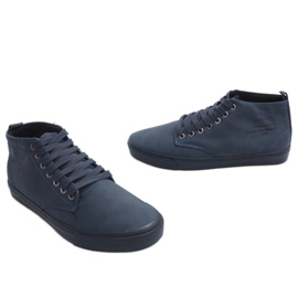 Stilfulde High-top Sneakers Y007 Navy Blue 4
