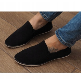 Lycra D16M Sort Slip-On Sneakers 3