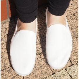 Lycra BL181-2 Hvide Slip-On Sneakers 1