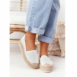S.Barski Espadrilles On The Straw Platform S. Bararski White hvid 4