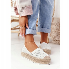 S.Barski Espadrilles On The Straw Platform S. Bararski White hvid 2