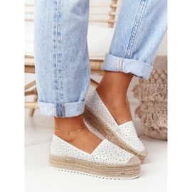 S.Barski Espadrilles On The Straw Platform S. Bararski White hvid 3