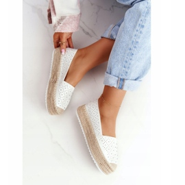 S.Barski Espadrilles On The Straw Platform S. Bararski White hvid 5