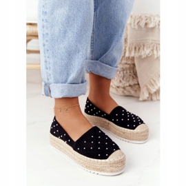 S.Barski Espadrilles On The Straw Platform S. Bararski Black sort 3