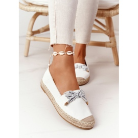 S.Barski Espadrilles On Straw Sole S. Bararski White hvid 5