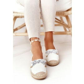 S.Barski Espadrilles On Straw Sole S. Bararski White hvid 2