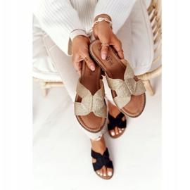 S.Barski Elegante tøfler til kvinder S. Barski Gold beige guld 4
