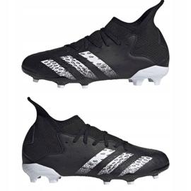 Adidas Predator Freak.3 Fg Junior FY1031 fodboldstøvler sort sort 7