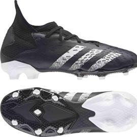 Adidas Predator Freak.3 Fg Junior FY1031 fodboldstøvler sort sort 8