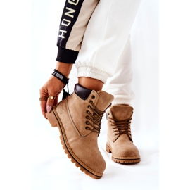 PH1 Kvinders Beige Crush varme støvler brun 1