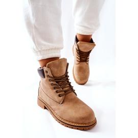 PH1 Kvinders Beige Crush varme støvler brun 2