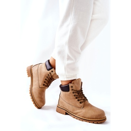 PH1 Kvinders Beige Crush varme støvler brun 3