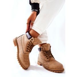 PH1 Kvinders Beige Crush varme støvler brun 4