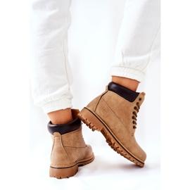 PH1 Kvinders Beige Crush varme støvler brun 5