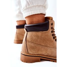 PH1 Kvinders Beige Crush varme støvler brun 6