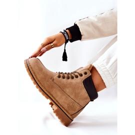 PH1 Kvinders Beige Crush varme støvler brun 7
