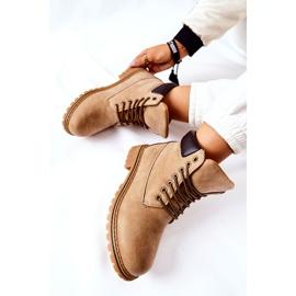 PH1 Kvinders Beige Crush varme støvler brun 8