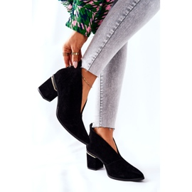 Læderstøvler på høj hæl Laura Messi Sort 2344 6