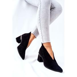 Læderstøvler på høj hæl Laura Messi Sort 2344 2