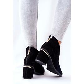 Læderstøvler på høj hæl Laura Messi Sort 2344 3