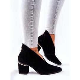 Læderstøvler på høj hæl Laura Messi Sort 2344 4