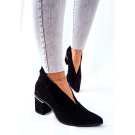 Læderstøvler på høj hæl Laura Messi Sort 2344 5