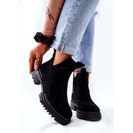 POTOCKI Sorte Corano støvler med lynlås 6
