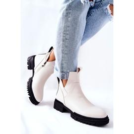 POTOCKI Hvide Corano støvler med lynlås 3