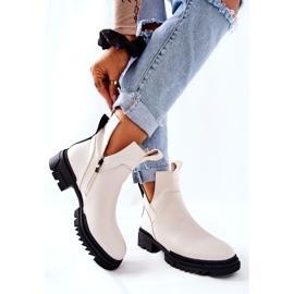 POTOCKI Hvide Corano støvler med lynlås 6