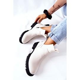 POTOCKI Hvide Corano støvler med lynlås 1