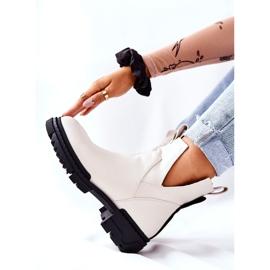 POTOCKI Hvide Corano støvler med lynlås 2