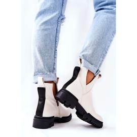 POTOCKI Hvide Corano støvler med lynlås 4