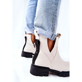 POTOCKI Hvide Corano støvler med lynlås 5