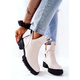 POTOCKI Hvide Corano støvler med lynlås 7