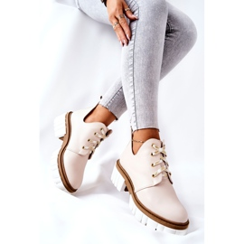 PA2 Læderstøvler med udskåret beige Kaxo 8